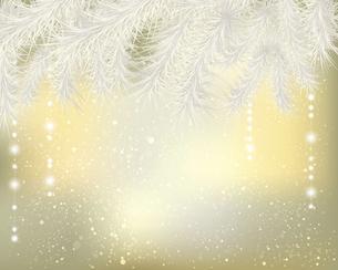 モミとオーナメントのクリスマス背景のイラスト素材 [FYI04940577]