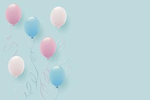 パステルカラーの風船イラスト背景のイラスト素材 [FYI04940782]