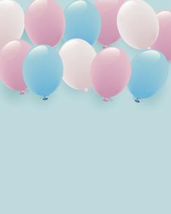 パステルカラーの風船イラスト背景のイラスト素材 [FYI04940788]