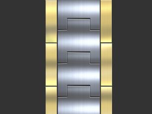 暗い背景に光沢のある時計金属バンドのイラスト素材 [FYI04940792]