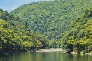 【京都】夏の桂川と嵐山の写真素材 [FYI04941284]