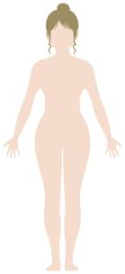女性 全身 裸・ヌード (シルエット,輪郭 ) 顔なしイラスト (白人)のイラスト素材 [FYI04941474]