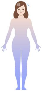 女性の冷え性・体の冷え / タイプ別イラスト (全身型)のイラスト素材 [FYI04941480]