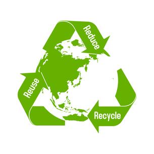 3R(recycle,reuse,reduce)・リサイクル・エコロジーイメージマークのイラスト素材 [FYI04941555]
