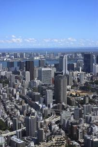 東京シティービューから望む港区の高層ビル群とお台場方面の美しい眺望の写真素材 [FYI04941634]