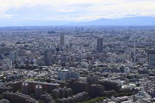 東京シティービューから望む広尾ガーデンヒルズと中目黒方面の高層ビルの写真素材 [FYI04941635]
