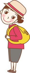 リュックを背負っている若い女性。のイラスト素材 [FYI04941655]