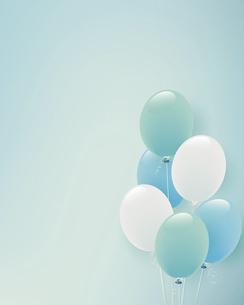 パステルカラーの風船イラスト背景のイラスト素材 [FYI04941720]