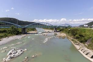 和佐谷橋から望む手取川の写真素材 [FYI04942108]