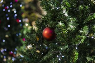街中のクリスマスデコレーションの写真素材 [FYI04942252]