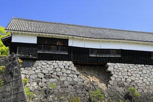 熊本城 地震で崩れた数寄屋丸二階御広間 熊本県の写真素材 [FYI04942966]