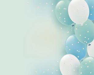 パステルカラーの風船イラスト背景のイラスト素材 [FYI04942980]