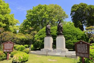 水前寺公園 細川公銅像 熊本県の写真素材 [FYI04942990]