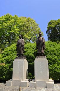 水前寺公園 細川公銅像 熊本県の写真素材 [FYI04942991]