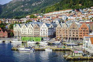 ノルウェーの港町ベルゲン2の写真素材 [FYI04943325]