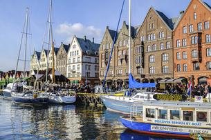 ノルウェーの港町ベルゲンの写真素材 [FYI04943326]