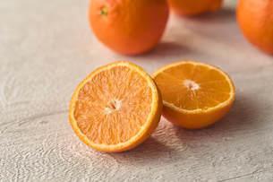 カットしたオレンジの写真素材 [FYI04943706]