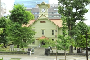 札幌市時計台の写真素材 [FYI04944423]