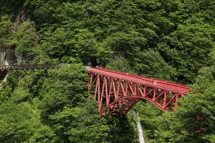 黒部峡谷 山彦橋 富山県の写真素材 [FYI04944550]