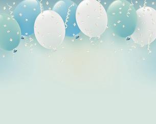 パステルカラーの風船イラスト背景のイラスト素材 [FYI04944875]