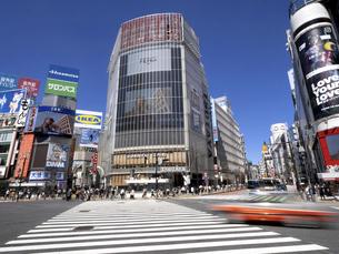 渋谷駅前交差点 東京都の写真素材 [FYI04945087]