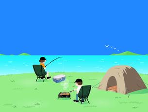 Fishing campのイラスト素材 [FYI04945861]