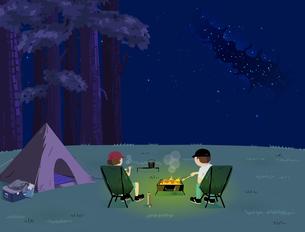 Night BBQのイラスト素材 [FYI04945878]