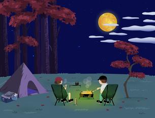 Night BBQ Autumnのイラスト素材 [FYI04945879]