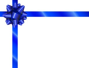 Ribbon Blueのイラスト素材 [FYI04945901]