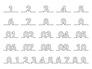 数字のデザインのイラスト素材 [FYI04946307]