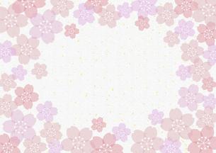 和紙桜金箔フレームのイラスト素材 [FYI04946318]
