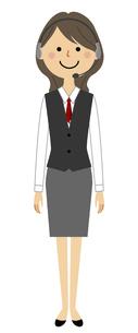 ヘッドセット  制服姿の女性 のイラスト素材 [FYI04946606]