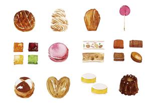 フランス菓子のイラスト素材 [FYI04947444]