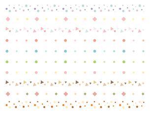 シンプルな飾り罫のイラストレーションのイラスト素材 [FYI04947527]