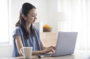 パソコンを見る女性の写真素材 [FYI04947732]