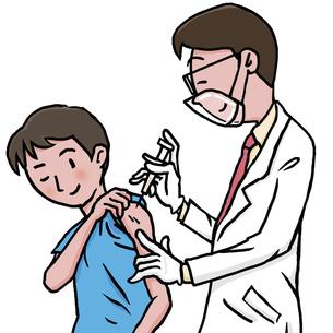 ワクチン接種のイラスト素材 [FYI04949035]