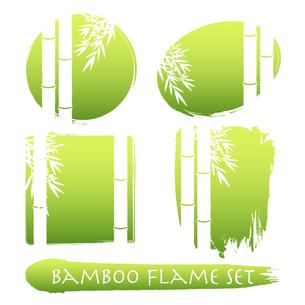 シンプルな竹のフレーム、ベクター素材のイラスト素材 [FYI04949085]