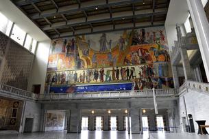 オスロ市庁舎 ノーベル平和賞授与式のホールの写真素材 [FYI04950610]