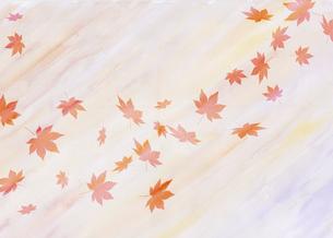 水彩散り紅葉のイラスト素材 [FYI04951047]