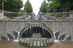 横浜 山下公園 石のステージの写真素材 [FYI04951048]