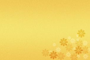 花柄の金箔 のイラスト素材 [FYI04951196]