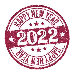 2022 年賀状素材 Happy New Year スタンプ イラストのイラスト素材 [FYI04951529]