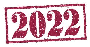 2022 年賀状素材 Happy New Year スタンプ イラストのイラスト素材 [FYI04951537]