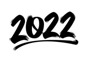2022 令和4年 年賀状素材 / 躍動感のある筆文字風イラストのイラスト素材 [FYI04951542]
