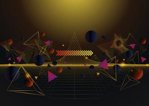 三角図形と円形図形の線のイラストのイラスト素材 [FYI04952492]