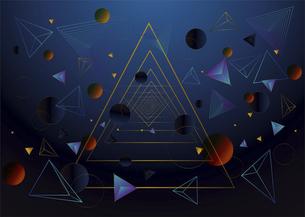 三角図形と円形図形のベクターオブジェクト素材のイラスト素材 [FYI04952496]