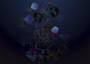 四角の線のバックグラウンドのイラスト素材 [FYI04952506]
