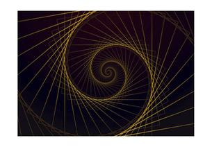 螺旋の線の幾何学模様パターンのバックグラウンドのイラスト素材 [FYI04952515]