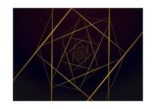 四角の線の幾何学模様パターンのバックグラウンドのイラスト素材 [FYI04952518]