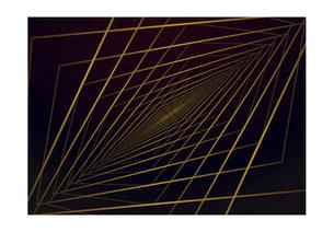 四角の線の幾何学模様パターンのバックグラウンドのイラスト素材 [FYI04952520]